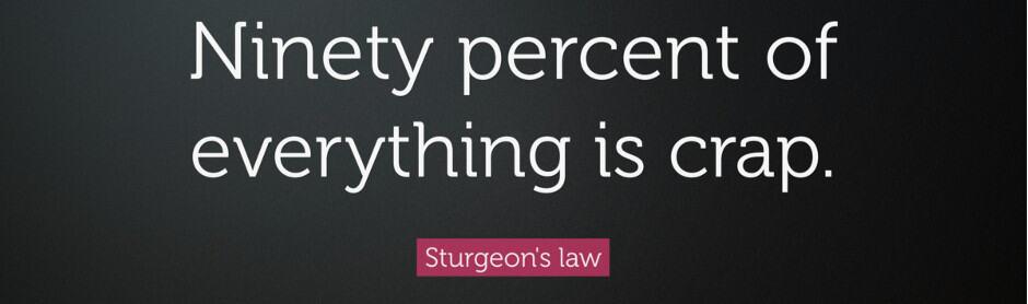Sturgeon's 90 percent