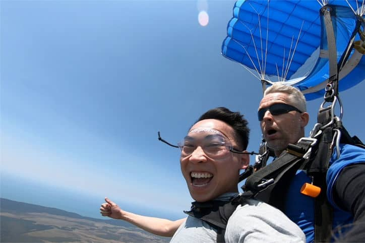 Jackson Wong skydiving accountant