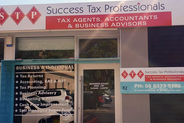 Success Tax Professionals Unley outside office