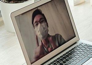 coranavirus video call