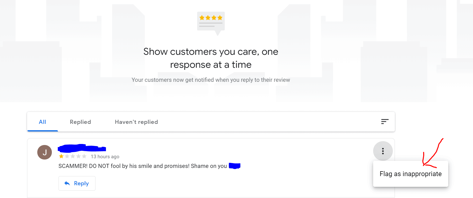 Flag google review