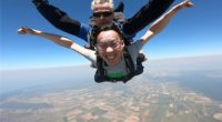 Jackson Wong Accountant skydiving